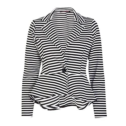ade98902d11 Made By Malaika® New Ladies Long Sleeve Tailored Peplum Cropped Blazer  Women s Slim Fit Jacket