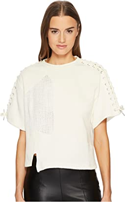 Lace Patched T-Shirt