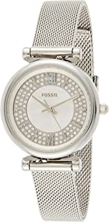 FOSSIL Carlie Mini Mesh Stainless Steel Band Analog Watch for Women - Silver