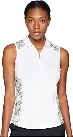 Kaleidoscope Printed Sleeveless Polo