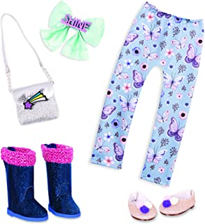 Glitter Girls Dolls by Battat – 14-inch Doll Clothes and Accessories – Butterfly Leggings, Glitter Shoes, Boots, Hair Bow,...