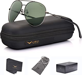 LUENX Men Aviator Sunglasses Polarized Women - UV 400...