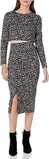 Donna Morgan Women's Two Piece Knit Leopard Skirt Set Dress