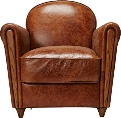【ジャーナルスタンダード ファニチャー正規品】 アクメ ファニチャー ACME Furniture  ソファ ブラウン 一人掛け 本革 リアルレザー オーク材 オークスクラブチェア(クラック) OAKS CLUB  CHAIR (crack)