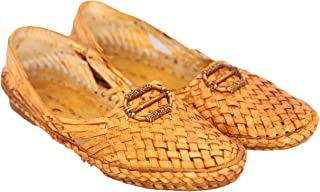 AAUTHORITY Mens Cross Knit Sandal with Artistic Button