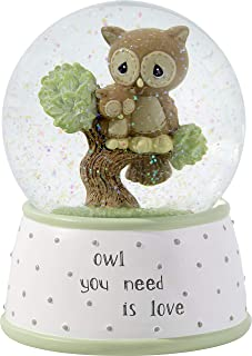 Precious Moments Owl You Need is Love Musical Resin & Glass Snow Globe 183101 WATERBALL, One Size, Multi