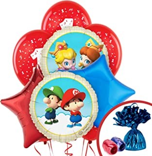 Super Mario Bros Babies Party Supplies 1st Birthday Balloon Bouquet