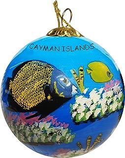 Art Studio Company Hand Painted Glass Christmas Ornament - Tropical Fish Caymen Islands