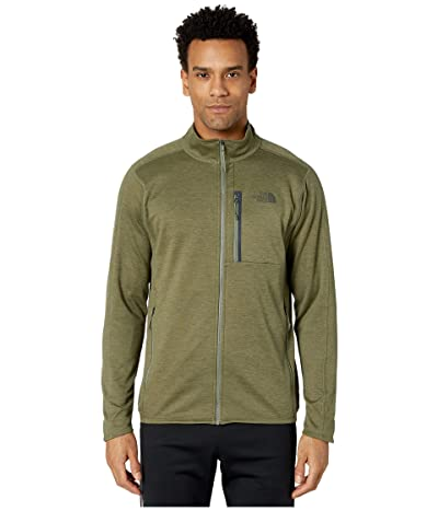 The North Face Canyonlands Full Zip (Burnt Olive Green Heather) Men