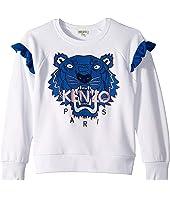 Kenzo Kids - Tiger Fringe Sweatshirt (Big Kids)