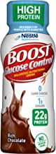 Boost Glucose Control High Protein Nutritional Drink, Rich Chocolate, 8 Ounce Bottle (Pack of 16) (Packaging May Vary)