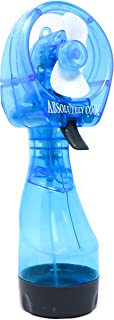 Retailery Portable Battery Operated Water Misting Cooling Fan Spray Bottle, B Blue