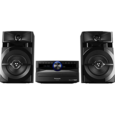 Panasonic Mini chaine hifi DAB+ Bluetooth SC-UX102E-K I 300W Lecteur CD Radio FM/DAB/DAB+ Rythime D.Bass Bluetooth Port USB DJ Jukebox Design élégant et sobre noir - Version Française
