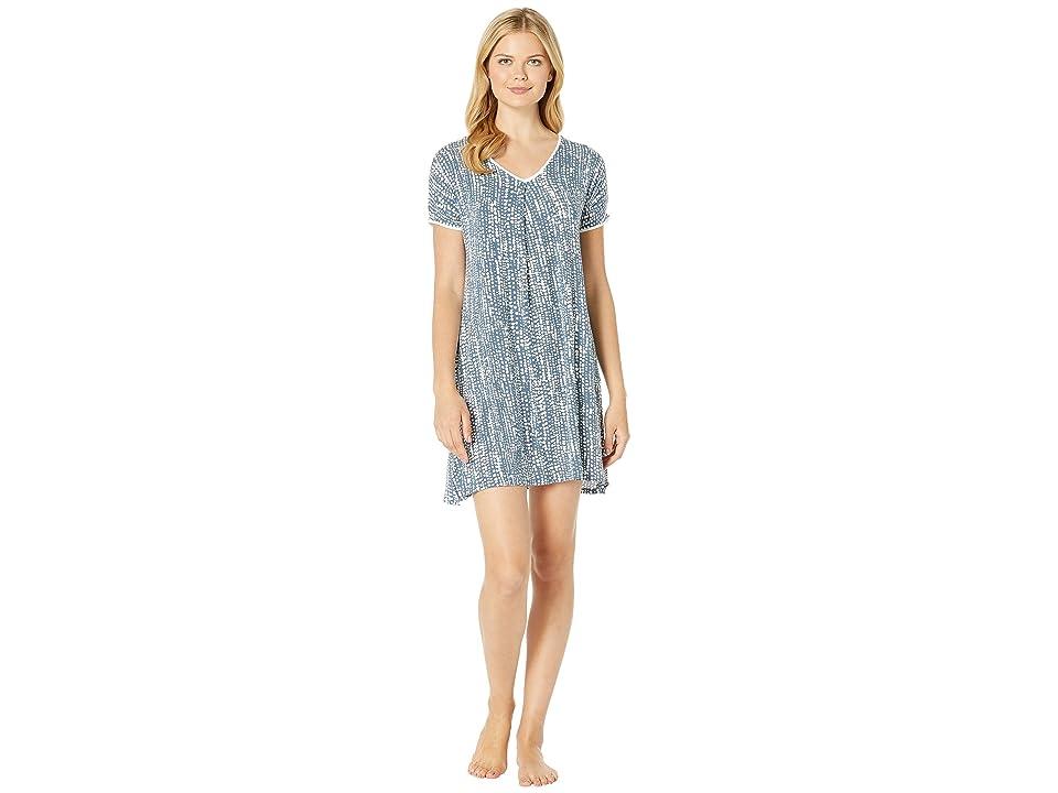 Donna Karan Sleepshirt (Navy/Print) Women