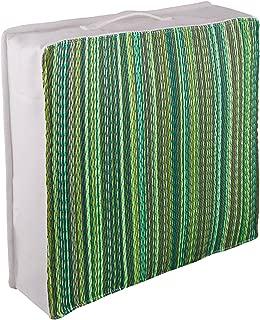 Cancun Green resistente ai raggi UV e agli agenti atmosferici plastica riciclata Fab Hab Cuscino per accento allaperto 42 cm x 42 cm