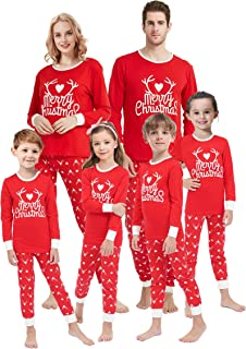 Family Matching Christmas Pajamas for Boys Girls Snowman...