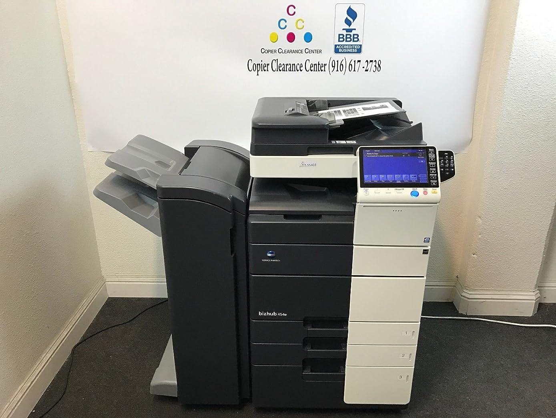 Konica Minolta Bizhub 454e Black & White Copier Printer Scanner Fax Finisher