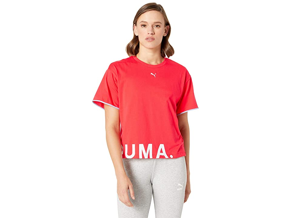 PUMA Chase Cotton Tee (Hibiscus) Women