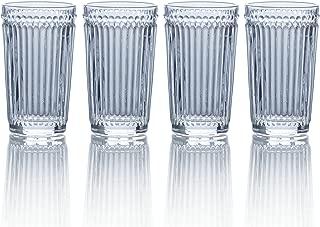 Mikasa Italian Countryside Highball Glass, Clear, 12-Ounce, Set of 4