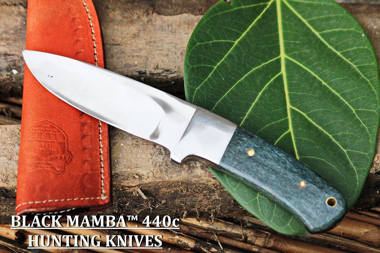 BLACK MAMBA KNIVES BMK-144 Green Fish 4.5 Inches Blade 440c Stai