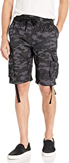 Southpole Big and Tall Men's Jogger Shorts with Cargo Pockets in Solid and Camo Colors, GreyBlack(New), 3X-Large