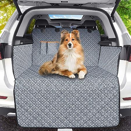 Bomiclas Universal Kofferraumschutz Hunde Auto Kofferraumdecke Ideal Für Deinen Hund Kofferraumschutzmatte Mit Seitenschutz Für Kofferraum Kofferraumschutzdecke Hund Wasserdicht Camouflage Haustier