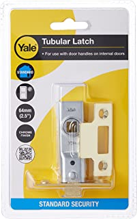 Yale P-M888-PB-64 Tubular Mortice Latch, Visi Pack, Suitable for Internal Doors, Brass Finish, 2.5 Inch/64 mm