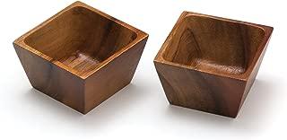 square wood bowl