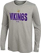 NFL Football Boys Youth Minnesota Vikings 24KT Gold Short Sleeve Tee Black