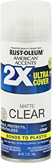 Rust-Oleum 327862 American Accents Ultra Cover 2X Matte, Each, Clear