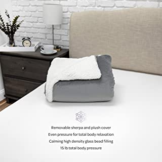 SensorPEDIC Serenity 15 lb Blanket & Removable Cover Weighted Blanket, 72