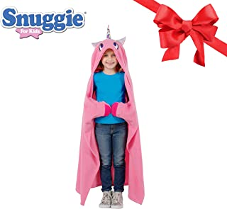 SNUGGIE Unicorn Blanket- Comfy, Cozy, Super Soft, Warm, All Season, Kids Hooded Wearable Robe Blanket, As Seen on TV