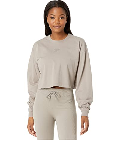 Reebok Classics Cotton Cropped Long Sleeve T-Shirt