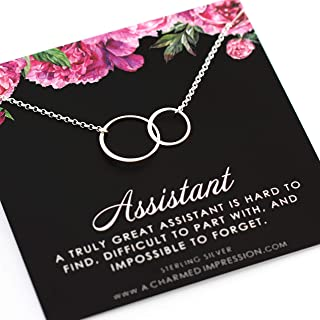 Unique Gift for Assistant • Sterling Silver Necklace • New Job Gifts • Promotion • Thoughtful Employee Gifts • Appreciation Gifts for Coworkers • Admin Assistant • Administrative Assistant • Coworker