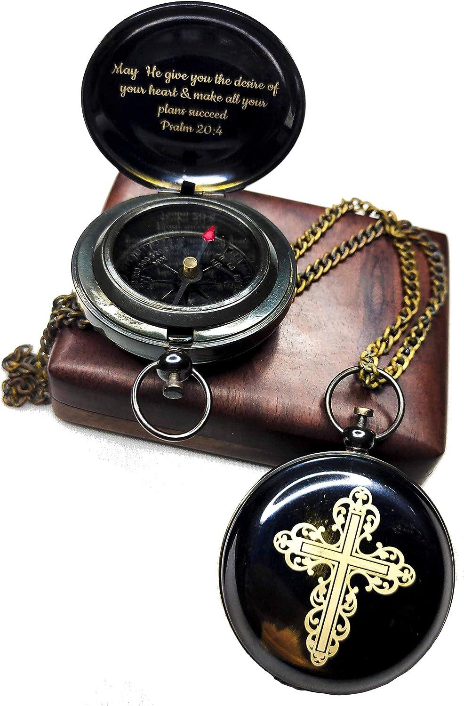 Expressions Enterprises Baptism Keep Sake Brass Compass Max 68% OFF Handcra Cheap SALE Start