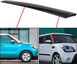 ECOTRIC Right Passenger Side Exterior Molding Windshield Pillar Trim Compatible with Kia Soul 2010-11-12-13