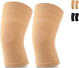 TOFLY Knee Sleeves, (1 or 2 Pairs), Lightweight Knee Compression Sleeves Fit for Men & Women, Knee Brace Support for Pain Relief, Joint Pain, Arthritis, Running, Sports, Meniscus Tear, Injury Recovery