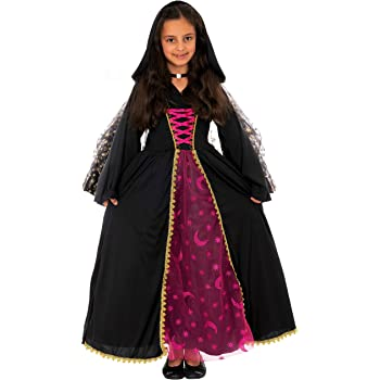 Magicoo Disfraz de Bruja de la Reina de la Luna, niña, Color Negro ...