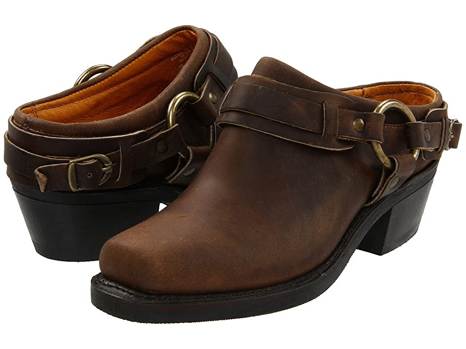 Frye Belted Harness Mule (Tan Crazy Horse Leather) Women