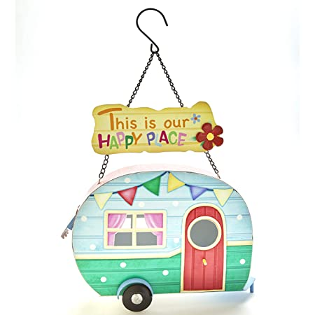 Amazon Com The Lakeside Collection Camper Hanging Birdhouse Patriotic Americana Ready To Hang Garden Outdoor