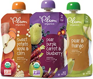 Plum Organics Stage 2, Organic Baby Food, Fruit and Veggie Variety Pack, 4 Ounce pouches..
