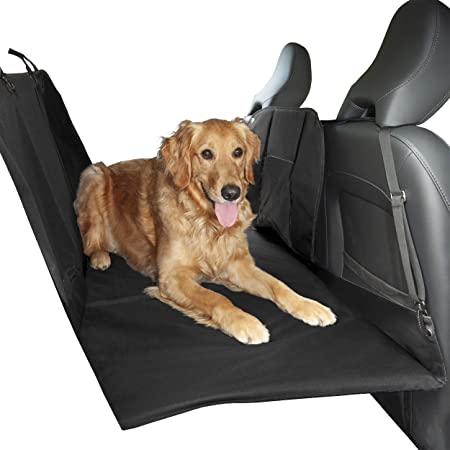 Furhaven Pet - Water-Resistant Universal Car Backseat, Cargo, and Single Seat Cover, Deluxe Platform Bridge Backseat Protector, and More for Dogs and Cats - Multiple Sizes, Styles, and Colors