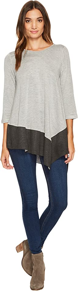 Three Dots - Reversible Color Block Knit Asymmetrical