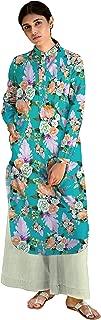 RADANYA Traditional Floral Pattern Women Cotton Full Sleeve Kurta Kurti for Women's