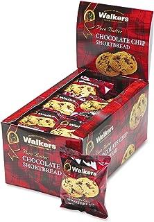 Walkers W536 Shortbread Cookies, Chocolate Chip, 2 Cookies/Pack, 24 Packs/Box