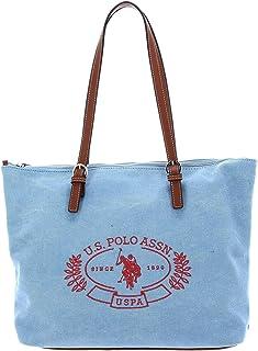 U.S. POLO ASSN. Springfield Canvas Shopping Bag M Sky Blue