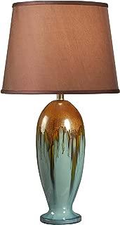 Kenroy Home 32366TEAL Tucson Lamps, Teal Ceramic Glaze Finish