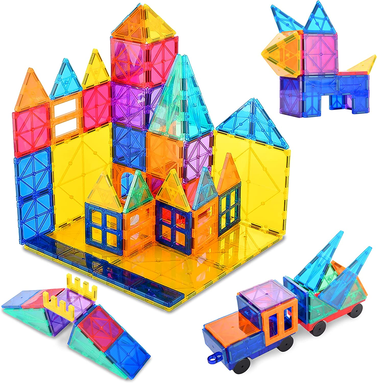120 pcs 3D Magnetic Tiles Building Educational Oakland Mall - STEM Lea Blocks It is very popular