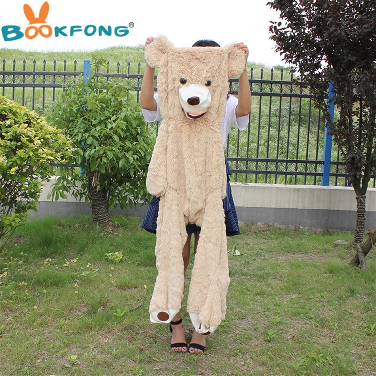 Amerika Giant Bear Knuffels Soft Bear Skin populair verjaardagscadeau Valentine Gifts For Girls Lihcao (Color : 260cm) 100cm