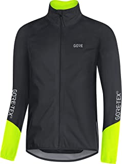 GORE Wear 男士防水自行车夹克,GORE Wear C5 GORE Wear -TEX 运动夹克,尺码:XL,颜色:红色/黑色,100193